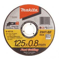 Круг абразивный отрезной Makita 125x0.8 мм по нержавейке
