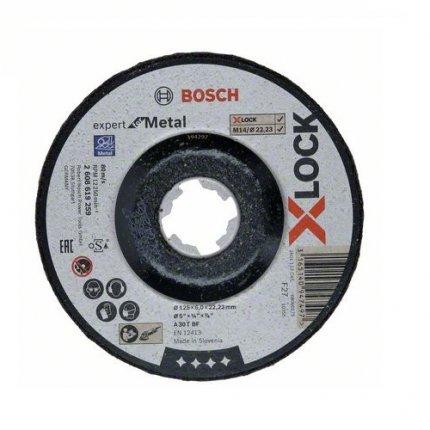 Круг зачистной по металлу Bosch X-Lock Expert for Metal 125x22,2 мм
