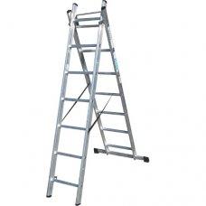 Лестница алюминиевая 2-х секционная Elkop VHR T2х7