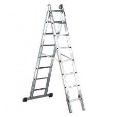 Лестница алюминиевая 2-х секционная Elkop VHR H2x14