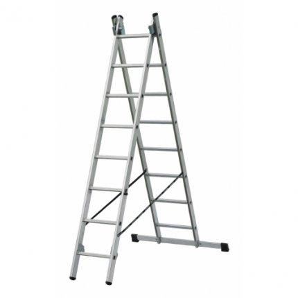 Лестница алюминиевая 2-х секционная Elkop VHR T2х8