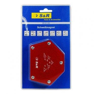 Магнитный угольник для сварки S&R 5-угольный: 30˚, 45˚, 60˚, 75˚, 90˚ (290201009)