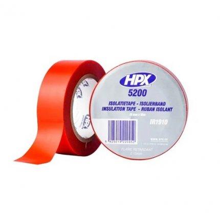 Изолента ПВХ HPX 5200 19мм х10м красная