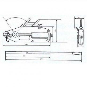 Монтажно-тяговый тросовый механизм GART Lifting 0.8Т + трос 20 м (01301)