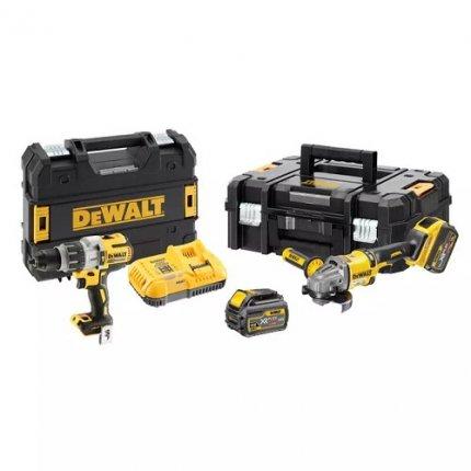 Набор из двух аккумуляторных инструментов DeWALT DCK2055T2T (шуруповерт+УШМ)