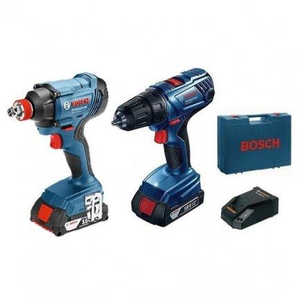Набор аккумуляторного инструмента Bosch GSR 180-Li + GDX 180-Li