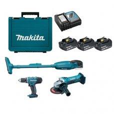 Набор аккумуляторного инструмента Makita DLXMUA452