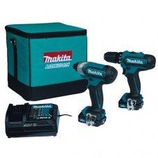 Набор аккумуляторного инструмента Makita CLX201SA