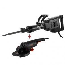 Отбойный молоток Dnipro-M SH-220AV + угловая шлифмашина Dnipro-M GL-280