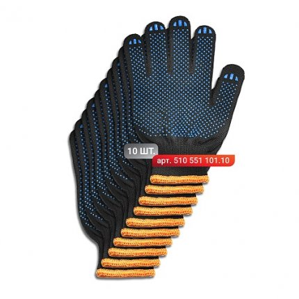Набор перчаток Stark Black 5 нитей 10 шт.