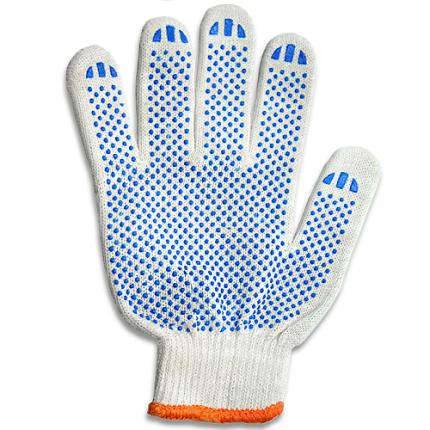Перчатки с ПВХ точкой Stark 510083100.10 белые 10 шт