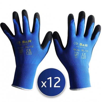 Набор перчаток S&R XL/10 полиэстер 12 шт.