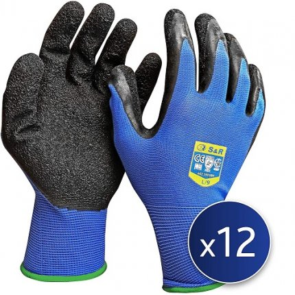Набор перчаток S&R L/9 нейлоновые 12 шт.