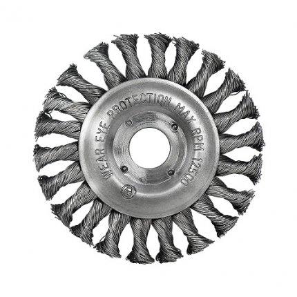 Щетка дисковая S&R, стальная плетеная проволока 125