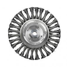Щетка дисковая S&R, стальная плетенная проволока 125