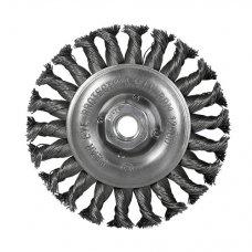 Щетка дисковая S&R, нержавеющая плетенная проволока 125