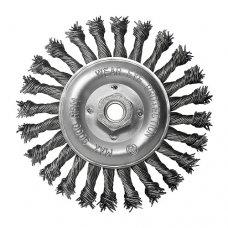 Щетка дисковая S&R, стальная плетенная проволока 150, ворс 0,8мм