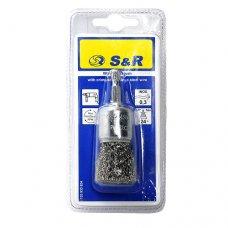 Щетка торцевая S&R, нержавеющая витая проволока 24