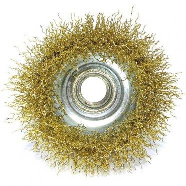 Щетка чашечная S&R 65 мм, латунированный рифленный провод (136132065)