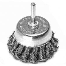 Щетка чашечная S&R 75, стальная плетеная проволока
