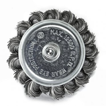 Щетка чашечная S&R 75, стальная плетеная проволока (136735075)