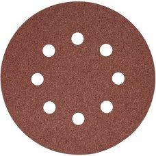 Набор шлифовальных кругов S&R D125 P240 - 8 отверстий, 5 шт.