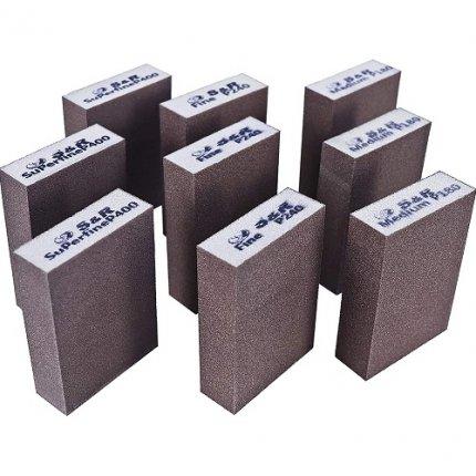 Набор губок шлифовальных S&R 9шт. 100 х70 х 25 мм