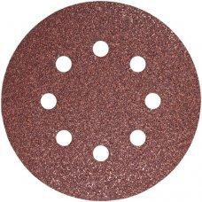 Набор шлифовальных кругов S&R D125 P60 - 8 отверстий, 5 шт.
