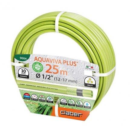 """Шланг поливочный Claber Aquaviva Plus ½"""" 25м салатовый"""