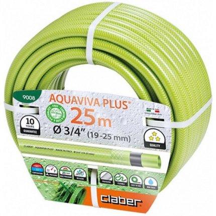Шланг поливочный Claber Aquaviva Plus 3/4 25м салатовый