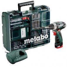 Дрель-шуруповерт аккумуляторный Metabo PowerMaxx BS Set c комплектом принадлежностей