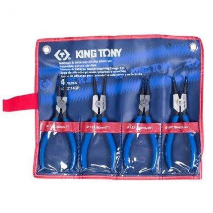 Набор съемников стопорных колец King Tony 42114GP