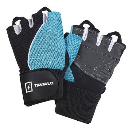 Спортивные перчатки Tavialo Black-Blue S женские