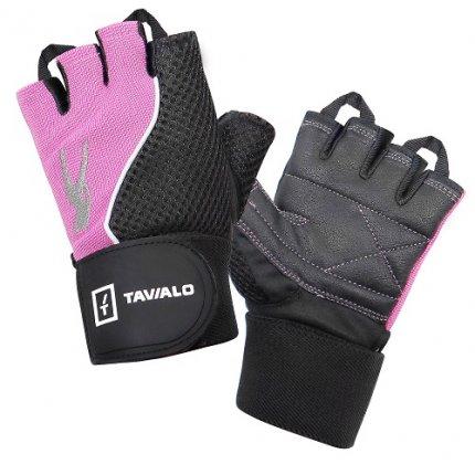 Спортивные перчатки Tavialo Black-Magenta M женские