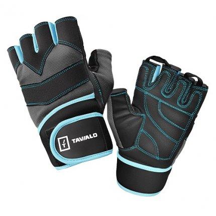 Спортивные перчатки Tavialo Black-Gray- Blue L мужские