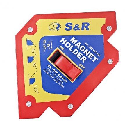 Магнитный держатель S&R с переключателем On/Off 25 кг 45˚ 90˚ 135˚