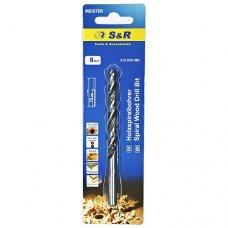 Сверло по дереву S&R спиральное 8 х 115 мм