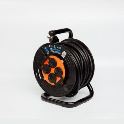 Удлинитель барабанный профессиональный Electraline 20 м. 3х2,5