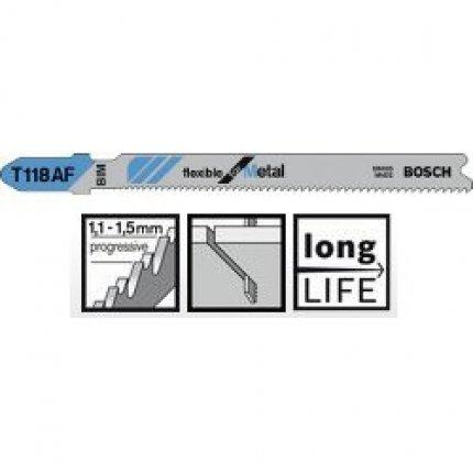 Пильное полотно Bosch Flexible for Metal T 118 AF 1шт
