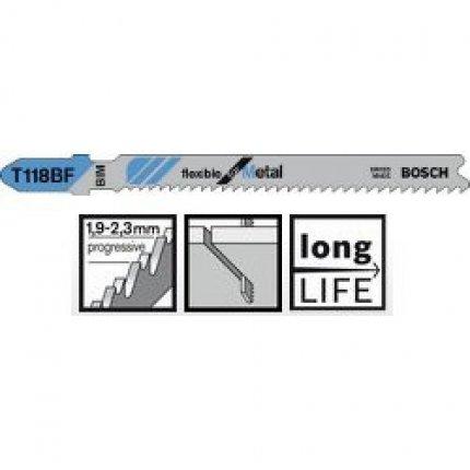 Пильное полотно Bosch Flexible for Metal T 118 BF 5шт