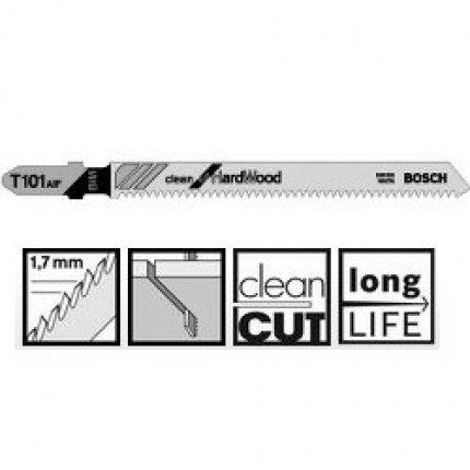 Пильное полотно Bosch Clean for Hard Wood T 101 AIF 5шт