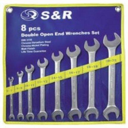 Набор ключей гаечных рожковых S&R 8шт (6х7-20х22мм)