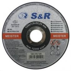 Круг отрезной по нержавеющей стали S&R Meister типа A46R-BF 125х1.6