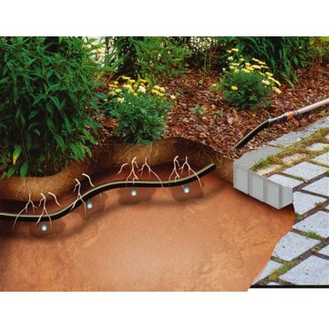 Комплект для удлинения сочащегося шланга Gardena для подземной прокладки (01395-20.000)