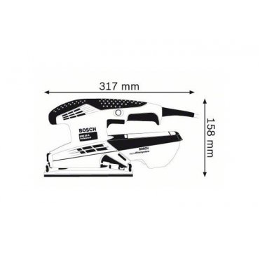 Машина плоскошлифовальная Bosch GSS 23 A (0601070400)