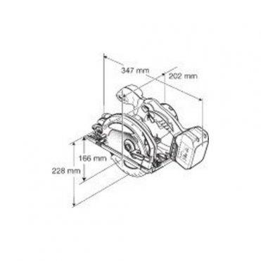 Пила дисковая аккумуляторная Makita BSS 610 RFE (BSS610RFE)