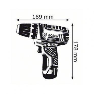Шуруповерт аккумуляторный Bosch GSR 10.8-2-Li 2 Ач (L-BOXX) (0601868109)