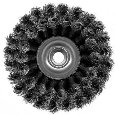 Щетка чашечная прямая двухрядная S&R, стальная плетенная проволока 100 (135250102)