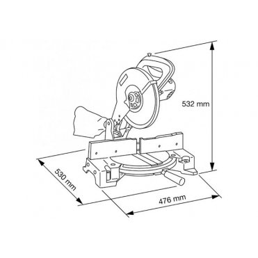 Пила торцовочная Makita LS 1040 (LS1040)