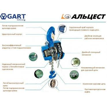 Таль ручная рычажная GART Lifting HSH-K 0.75 T (01211)